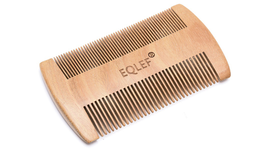 EQLEF Wooden Beard Comb