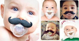 Mustache and Beard Pacifiers